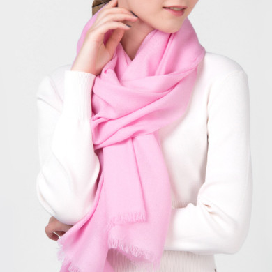 Winter Ladies Fine Wool Shawl Solid Dyed (2)