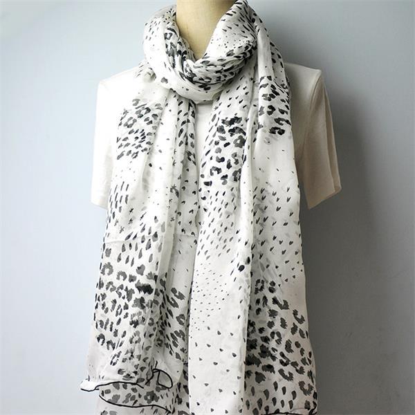black silk chiffon leopard scarf (3)