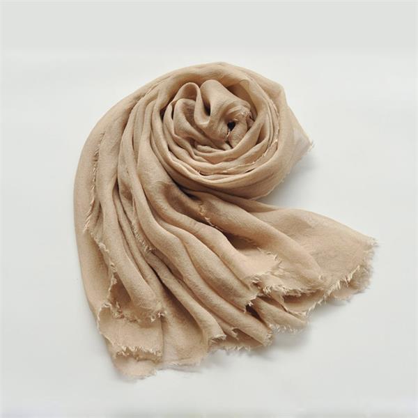 camel new sheer silk gauze scarf (1)
