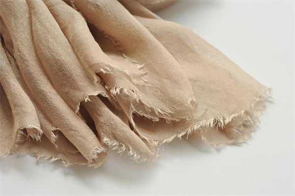 camel new sheer silk gauze scarf (2)