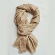 Camel New Sheer Silk Gauze Scarf