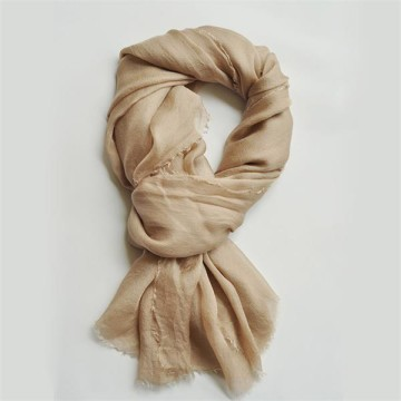 Camel New Sheer Silk Gauze Scarf