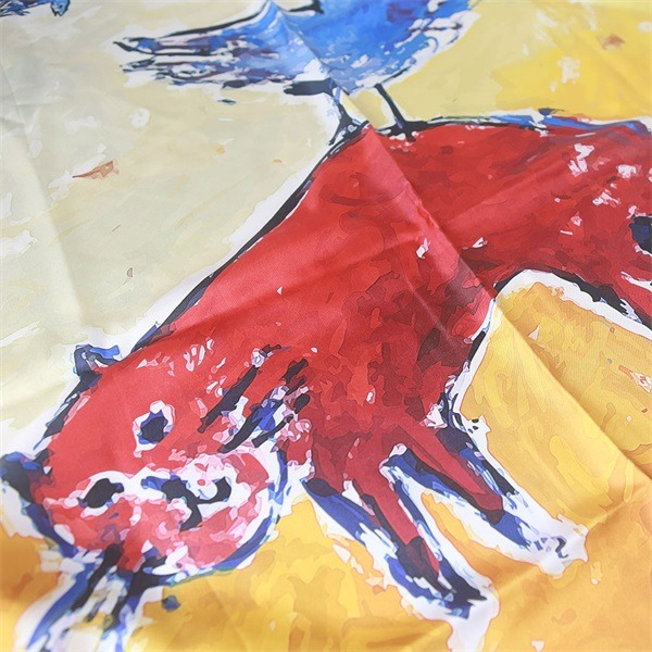 cat print colorful silk scarves (3)