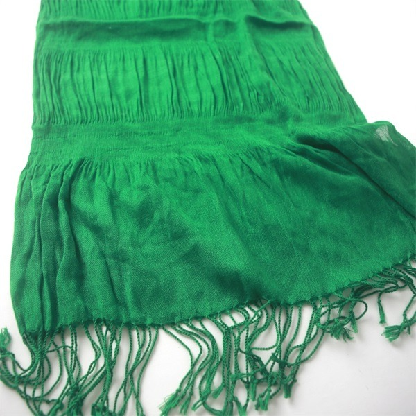 cheap winter green cotton viscose scarf (1)