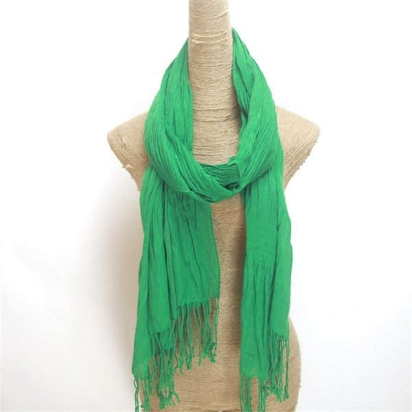 cheap winter green cotton viscose scarf (2)