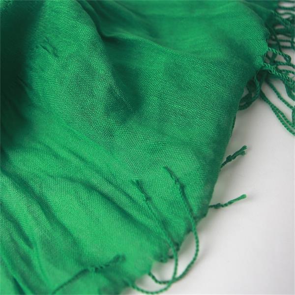 cheap winter green cotton viscose scarf