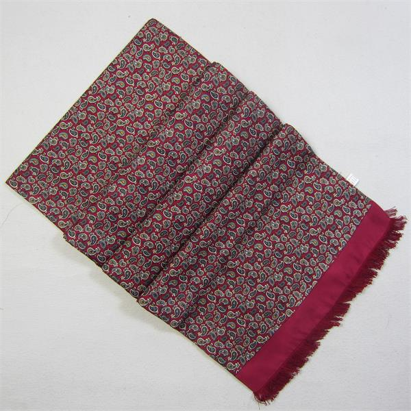 classic mens red silk scarf (1)