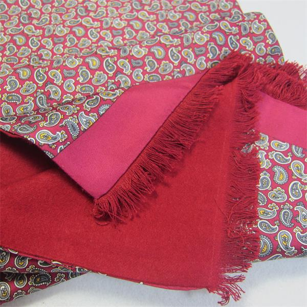classic mens red silk scarf (3)