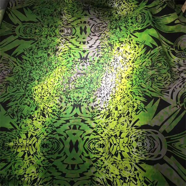 cotton silk satin digital printed