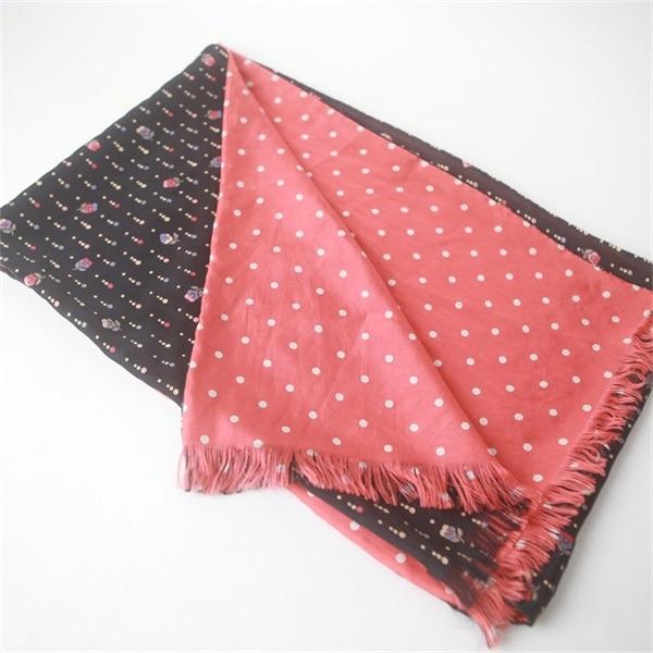 custom double sided silk scarf of silk habotai base (2)