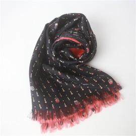 custom double sided silk scarf of silk habotai base (3)