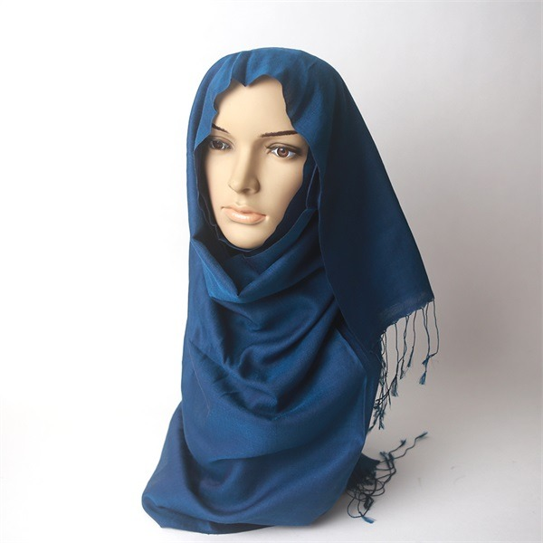 dark blue two tone water silk and cashmere pashmina (1)