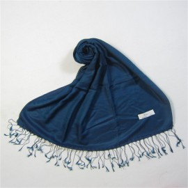 dark blue two tone water silk and cashmere pashmina (2)