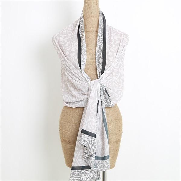 digital print silk feel ladies chiffon shawl wrap (3)