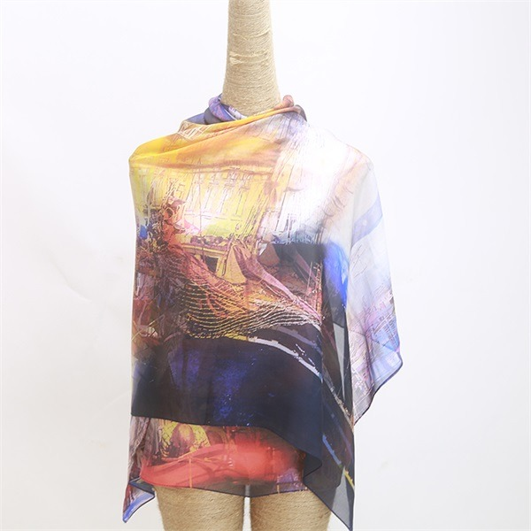 digital printed 100 silk chiffon shawl (1)