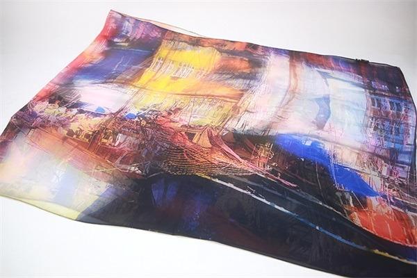 digital printed 100 silk chiffon shawl (2)