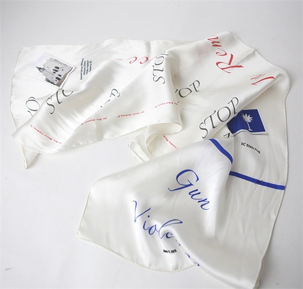 digital printed college silk satin scarf bandana (3)