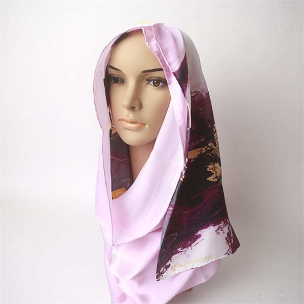 digital printed satin silk hijab (2)
