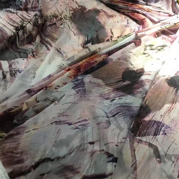 digital printed silk chiffon fabric