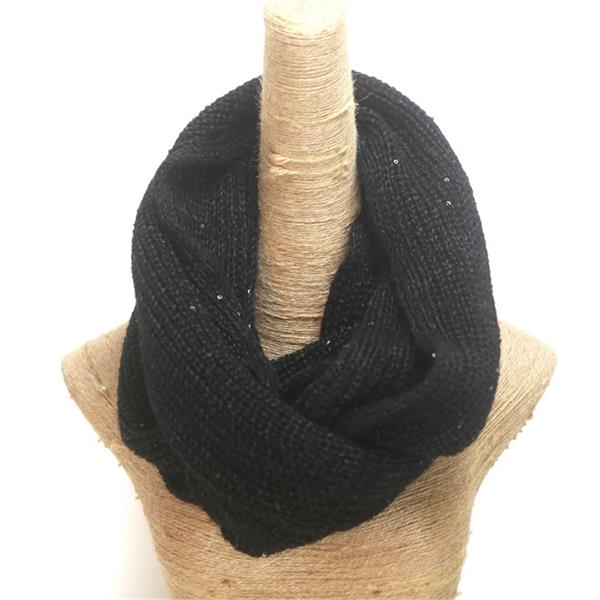 double knit tube scarf with shimmer sequins (1)