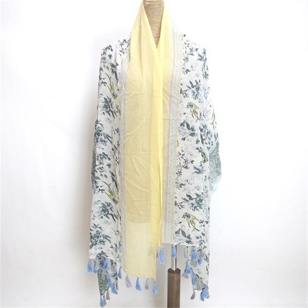 floral cotton voile scarf (2)