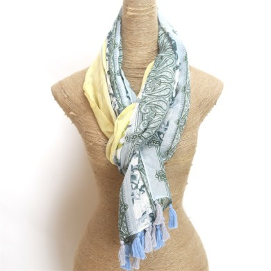 floral cotton voile scarf (3)