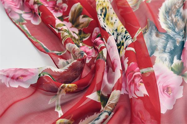 floral print silk scarf (2)