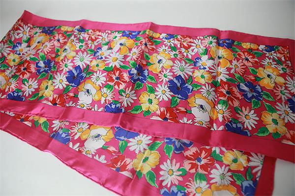 flower printed silk twill scarf belt (3)