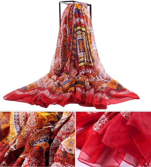 flowy large silk chiffon swimsuit covers digital printed_2
