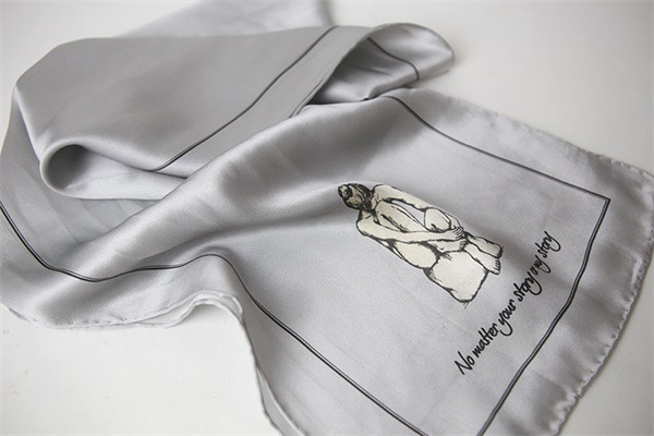 grey silver silk charmeuse scarf (1)