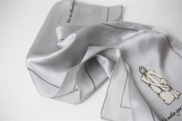 grey silver silk charmeuse scarf (2)