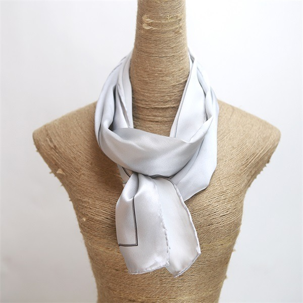 grey silver silk charmeuse scarf (4)
