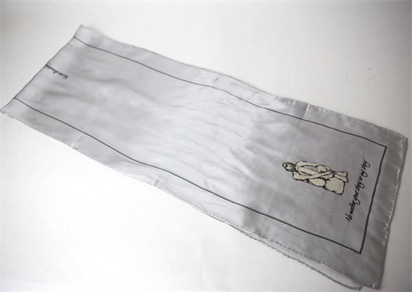 grey silver silk charmeuse scarf (5)