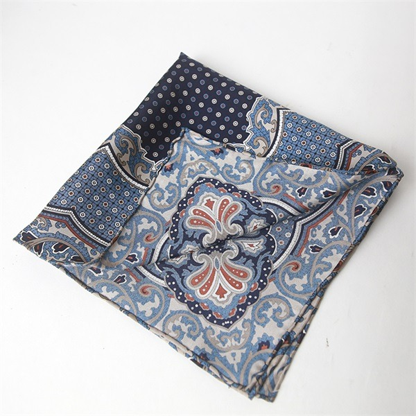 hand rolled silk twill pocket square (2)