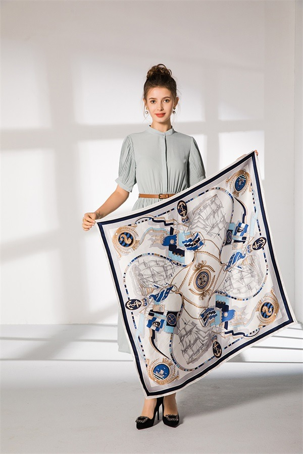 ivory pure silk square scarf (1)