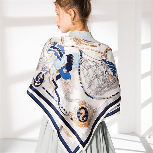 ivory pure silk square scarf (2)