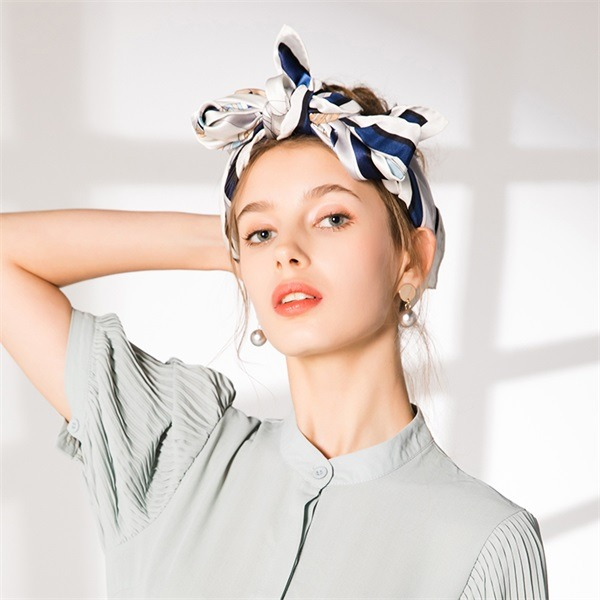 ivory pure silk square scarf (3)