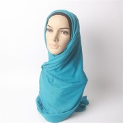 Turq Viscose Cotton Jersey Scarf hijab