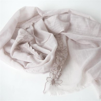 lace cotton linen scarves (2)