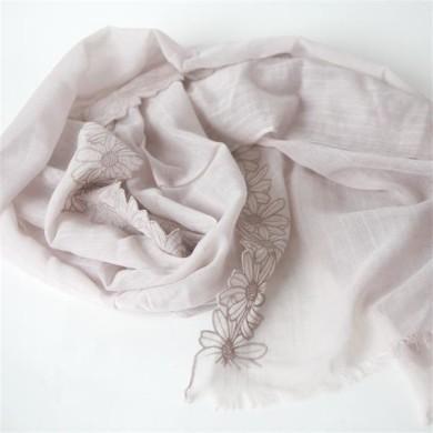 lace cotton linen scarves (2)