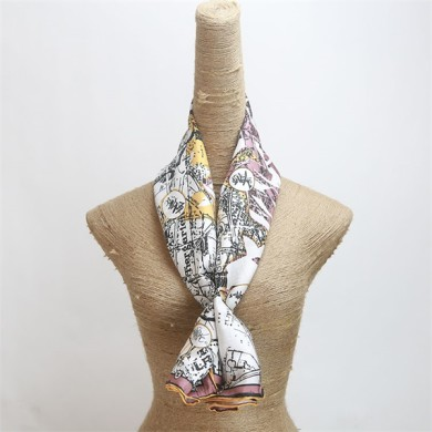 ladies 100 pure silk scarf high quality digital printed (2)