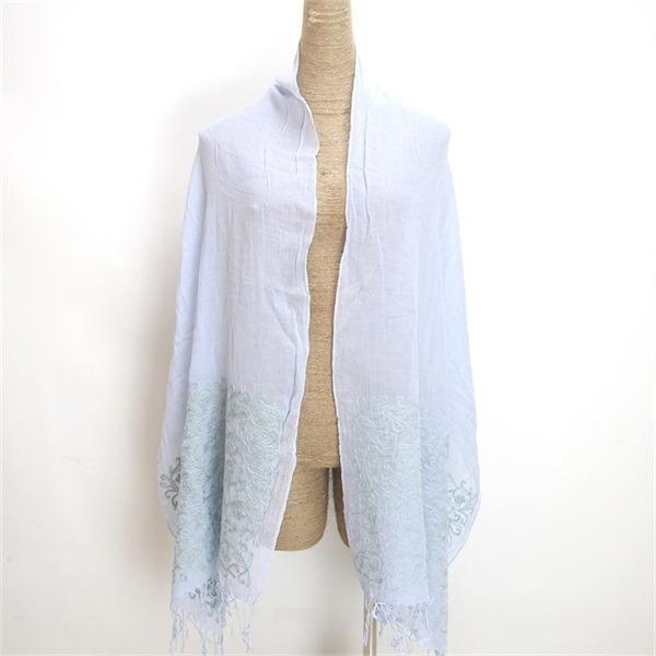 ladies cotton embroidered pashmina shawl (3)