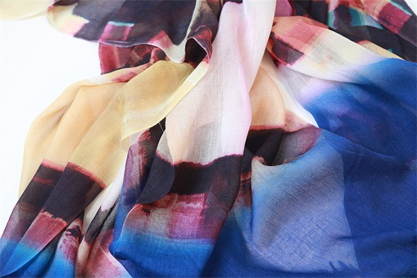 ladies fashion scarves of 100 modal soft touch (2)