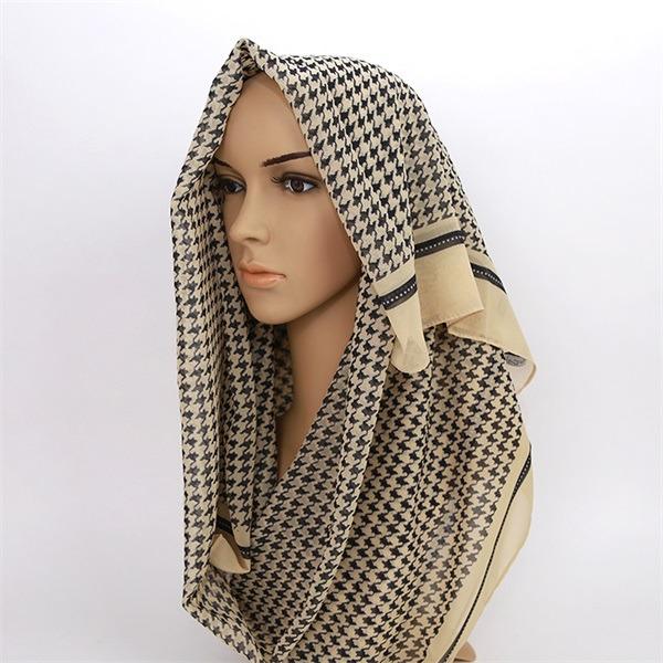 ladies polyester crepe chiffon hijab (2)