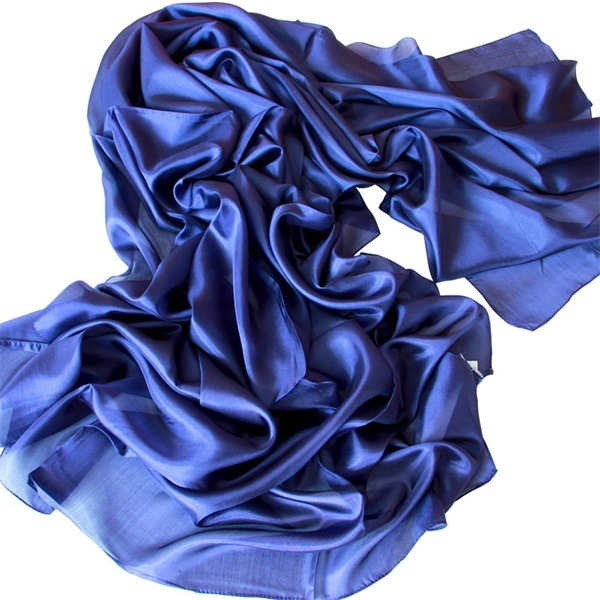 ladies soft real silk scarf (1)