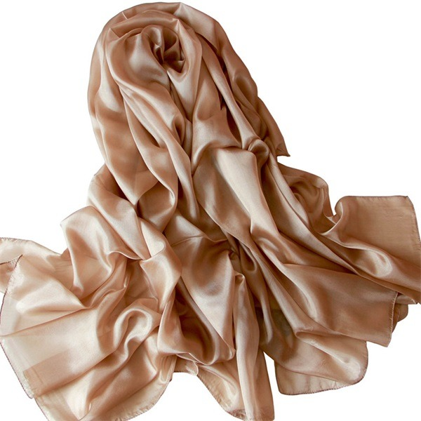 ladies soft real silk scarf (2)