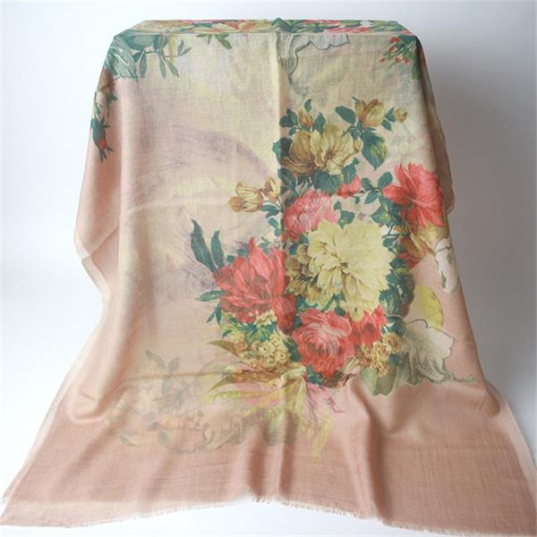 lightweight wool scarf digital printed (2)