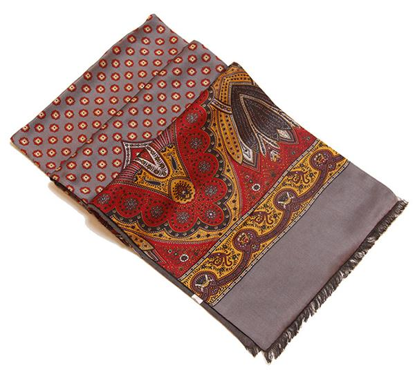 mens natural silk scarf for winter (1)