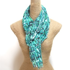 modern modal scarf mixed with silk digital printed (1)