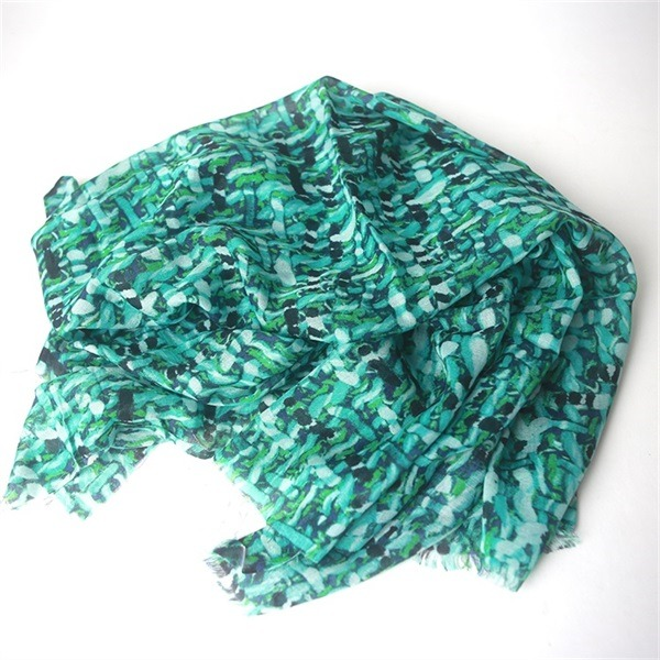 modern modal scarf mixed with silk digital printed (2)